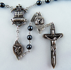 The Warrior Rosary in 6mm Hematite 