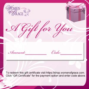 Women of Grace Gift Certificate