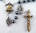 The Warrior Rosary in 8mm Hematite 