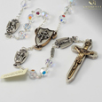 The Warrior's  Rosary for Women in 7mm Swarovski  crystal beads