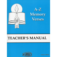 Simon Peter School Scripture Study A-Z Memory Verses  Teacher's  Manual (3rd -  5th Grades)