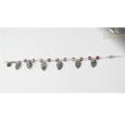 Amethyst Warrior Rosary Bracelet for Women