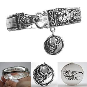 Women of Grace Scripture Bracelet -  Measures 8.0